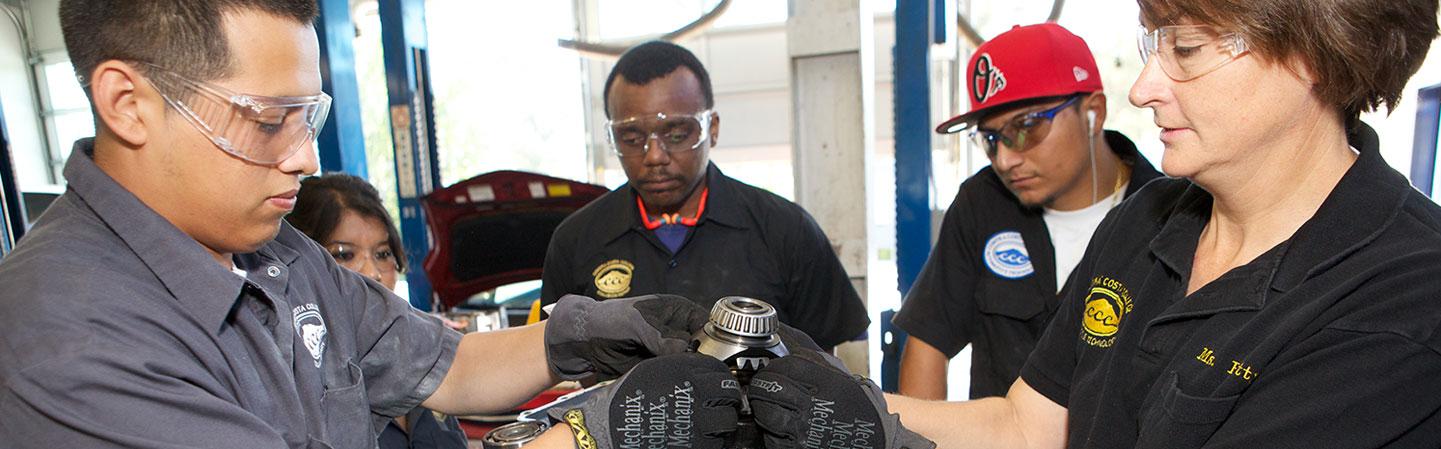 Automotive Services students