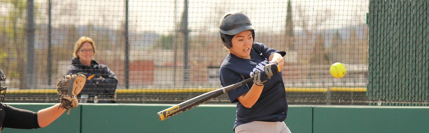 CCC softball player