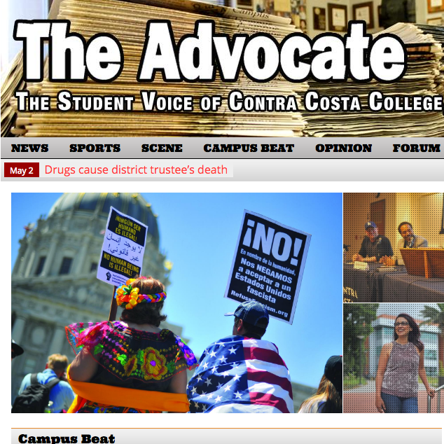 Advocate front page.