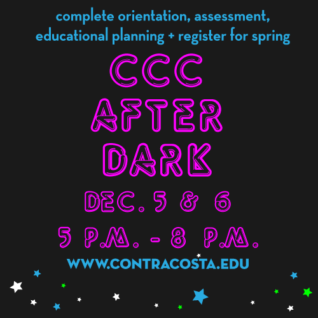 CCC After Dark, December 5 & 5, 5 to 8 p.m..