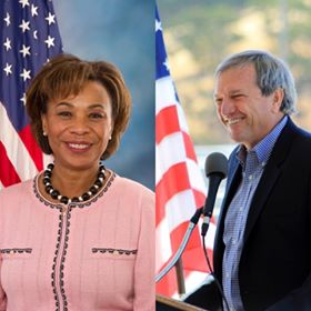 Barbara Lee and Mark DeSaulnier