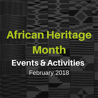 African American Heritage Month Events & Activities, February 2018