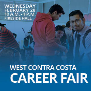 Career Fair, Wednesday, February 28. 10:00 a.m. to 1:00 p.m., Fireside Hall.