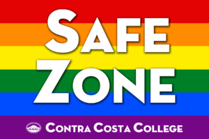Rainbow logo for LGBTQ organization at Contra Costa College