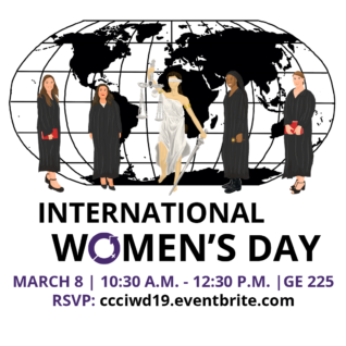 International Women's Day at Contra Costa College, March 8 at 10:30 a.m. in GE 225.