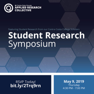 Student Research Symposium May 9, 2019, from 4:40 p.m. to 7:00 p.m. RSVP at http://bit.ly/2Trq9rn