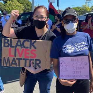 Demonstrators at Racial Justice Caravan