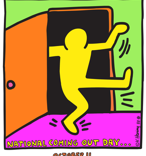 National Coming Out Day Logo by K Haring